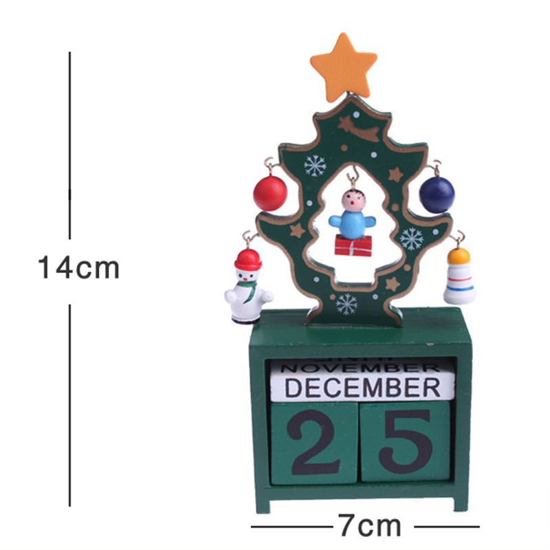 wooden advent countdown calendar santa days till christmas - Countdown Till Christmas Decoration