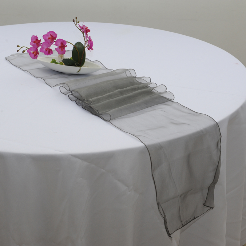 Sheer Organza Multi Use Table Runner Chair Soft Tulle Fabric Wedding